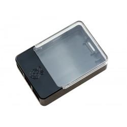 Raspberry Pi B+/2/3 HAT Case - Black & Clear