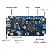 MotorAir - USB/Wireless Dual Motor Driver Board